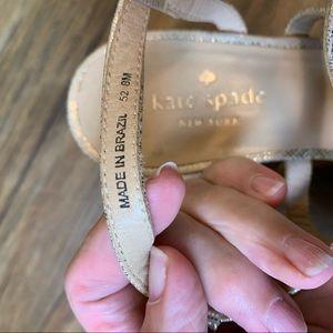 kate spade Shoes - Kate Spade Tropez gold cork wedge sandals